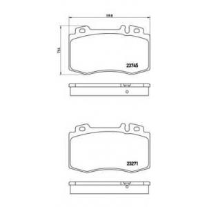 Комплект тормозных колодок, дисковый тормоз p50053 brembo - MERCEDES-BENZ S-CLASS купе (C215) купе CL 55 AMG (215.373)