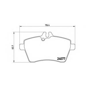 p50056 brembo Комплект тормозных колодок, дисковый тормоз MERCEDES-BENZ A-CLASS Наклонная задняя часть A 170 (169.032, 169.332)