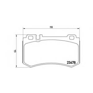 BREMBO P 50 061 Комплект тормозных колодок, дисковый тормоз Мерседес Слр