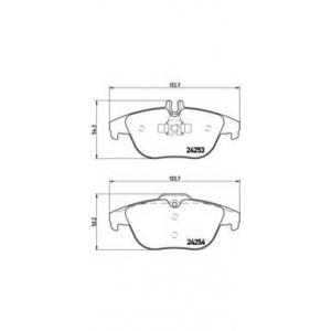 Комплект тормозных колодок, дисковый тормоз p50068 brembo - MERCEDES-BENZ C CLASS (W204) седан C 200 CDI (204.007)