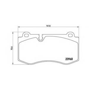 Комплект тормозных колодок, дисковый тормоз p50074 brembo - MERCEDES-BENZ SL (R230) кабрио 500