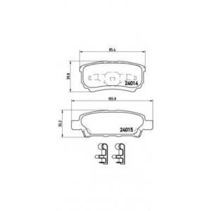 Комплект тормозных колодок, дисковый тормоз p54034 brembo - MITSUBISHI OUTLANDER I (CU_) вездеход закрытый 2.0 4WD (CU2W)