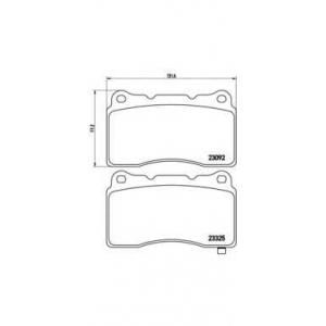 Комплект тормозных колодок, дисковый тормоз p54039 brembo - SUBARU IMPREZA седан (GD, GG) седан 2.0 WRX STi
