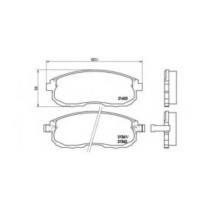 BREMBO P 56 021 Комплект тормозных колодок, дисковый тормоз Инфинити Ай 30