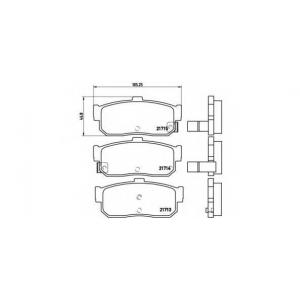 BREMBO P 56 029 Комплект тормозных колодок, дисковый тормоз Инфинити Ай 30