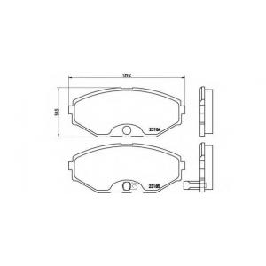 Комплект тормозных колодок, дисковый тормоз p56045 brembo - INFINITI J30 седан 3.0