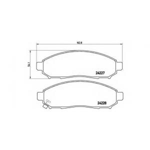 Комплект тормозных колодок, дисковый тормоз p56059 brembo - NISSAN NAVARA (D40) пикап 2.5 dCi