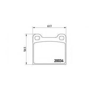 BREMBO P59 001 Колодки тормозные дисковые, к-кт.