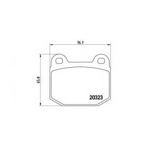 BREMBO P 59 004 Комплект тормозных колодок, дисковый тормоз Опель Кадет