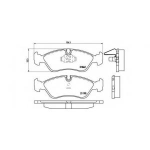 BREMBO P 59 017 Комплект тормозных колодок, дисковый тормоз Дэу Есперо