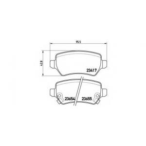 BREMBO P 59 038 Комплект тормозных колодок, дисковый тормоз Шевроле Зафира