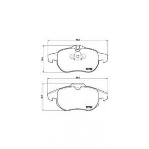 Комплект тормозных колодок, дисковый тормоз p59043 brembo - VAUXHALL VECTRA (B) Наклонная задняя часть Наклонная задняя часть 1.6 i