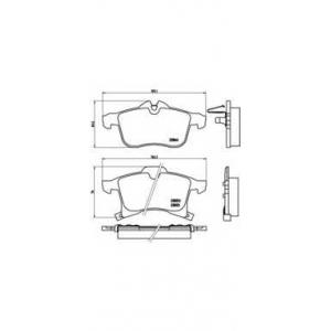 BREMBO P 59 045 Комплект тормозных колодок, дисковый тормоз Шевроле Зафира