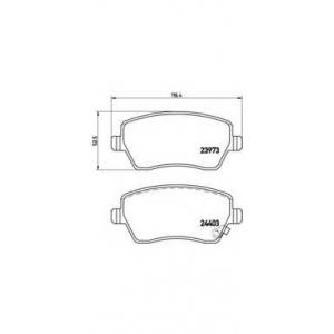 Комплект тормозных колодок, дисковый тормоз p59050 brembo - SUZUKI SWIFT III (MZ, EZ) Наклонная задняя часть 1.5