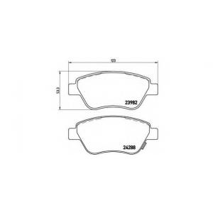 Комплект тормозных колодок, дисковый тормоз p59051 brembo - OPEL CORSA D Наклонная задняя часть 1.0