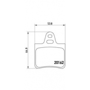 BREMBO P 61 037 Комплект тормозных колодок, дисковый тормоз Ситроен Хм