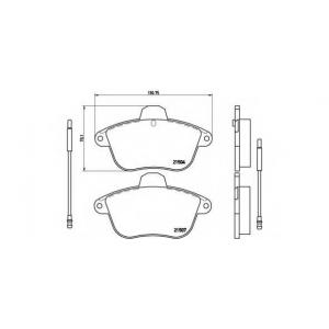 BREMBO P 61 046 Комплект тормозных колодок, дисковый тормоз Ситроен Хм