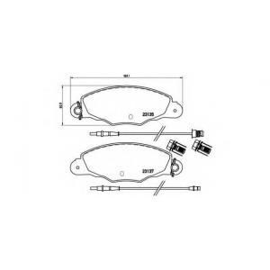 BREMBO P 61 061 Комплект тормозных колодок, дисковый тормоз Ситроен Хм