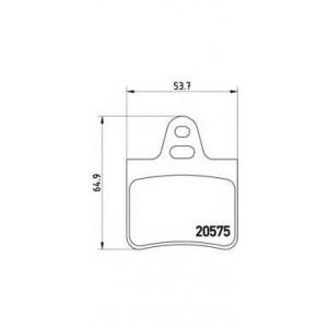 BREMBO P 61 062 Комплект тормозных колодок, дисковый тормоз Ситроен Бх Брейк