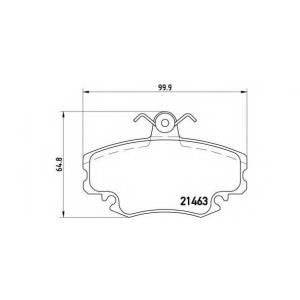 BREMBO P 68 008 Комплект тормозных колодок, дисковый тормоз Дача Соленза
