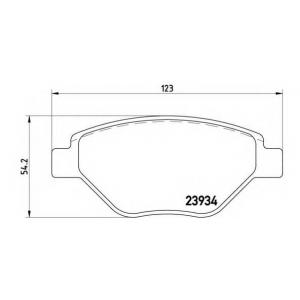 p68031 brembo Комплект тормозных колодок, дисковый тормоз RENAULT MEGANE Наклонная задняя часть 1.4 16V (BM0B, CM0B)