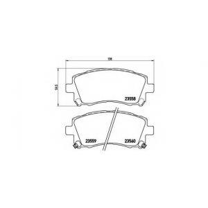 Комплект тормозных колодок, дисковый тормоз p78010 brembo - SUBARU IMPREZA седан (GC) седан 2.0 Turbo GT 4WD