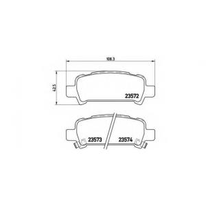 p78011 brembo Комплект тормозных колодок, дисковый тормоз SUBARU IMPREZA седан 2.0 Turbo GT