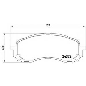 Комплект тормозных колодок, дисковый тормоз p78015 brembo - SUBARU IMPREZA седан (GD, GG) седан 1.6 AWD