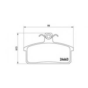 BREMBO P79007 Комплект тормозных колодок, дисковый тормоз