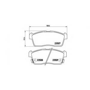 BREMBO P 79 012 Комплект тормозных колодок, дисковый тормоз Дайхатсу