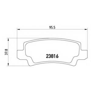 BREMBO P83065 Тормозные колодки дисковые