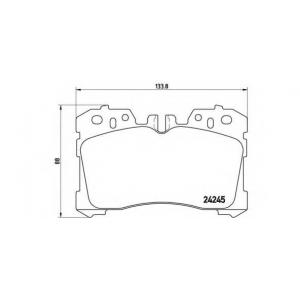 Комплект тормозных колодок, дисковый тормоз p83075 brembo - LEXUS LS (UVF4_, USF4_) седан 460