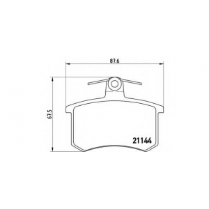BREMBO P 85 013 Комплект тормозных колодок, дисковый тормоз Ауди В8