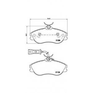 BREMBO P85018 Комплект тормозных колодок, дисковый тормоз