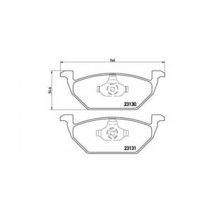 Комплект тормозных колодок, дисковый тормоз p85041 brembo - AUDI A3 (8L1) Наклонная задняя часть 1.6