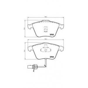 p85056 brembo Комплект тормозных колодок, дисковый тормоз AUDI A6 седан 2.5 TDI