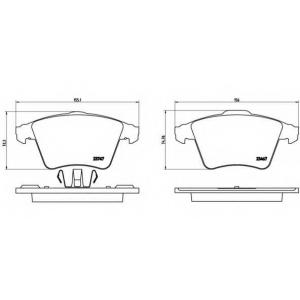 BREMBO P85106 Тормозные колодки дисковые