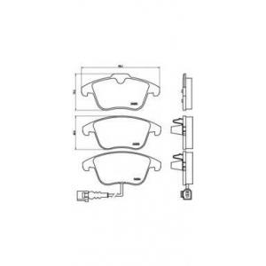 Комплект тормозных колодок, дисковый тормоз p85112 brembo - VW TIGUAN (5N_) вездеход закрытый 2.0 TDI 4motion