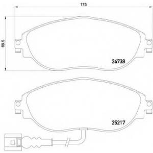 p85131 brembo Комплект тормозных колодок, дисковый тормоз SEAT ALHAMBRA вэн 1.4 TSI