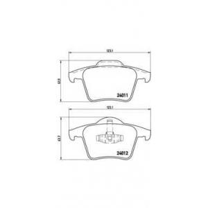 Комплект тормозных колодок, дисковый тормоз p86019 brembo - VOLVO XC90 универсал 2.5 T