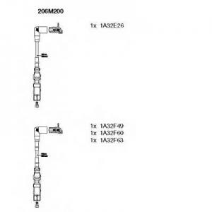 BREMI 206M200 Комплект проводов зажигания