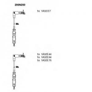 BREMI 206N200 Комплект проводів VW/SKODA Octavia/Golf/Bora \2,0 \99>>