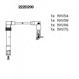 BREMI 222D200 Ккомплект проводов зажигания