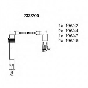 BREMI 233/200 Комплект проводів AUDI/SKODA/VW A4/A6/A6/SuperB/Passat \2,4-2,8 \97-05