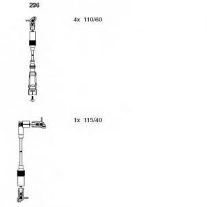 BREMI 236 Комплект проводів AUDI 100/A6 \2,0 \90-97