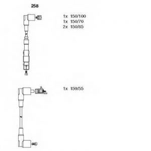BREMI 258 Комплект проводів MERCEDES 123/124/190 \M102 >>\93