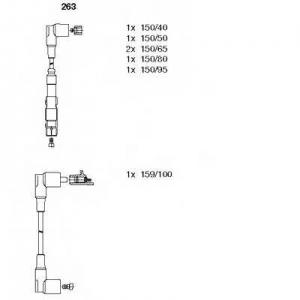 BREMI 263 Комплект проводів MERCEDES 190/124/463 \M103 2,6-3,0 >>\96