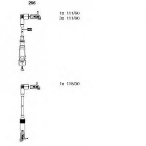 BREMI 266 Комплект проводов зажигания