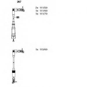BREMI 267 Ккомплект проводов зажигания
