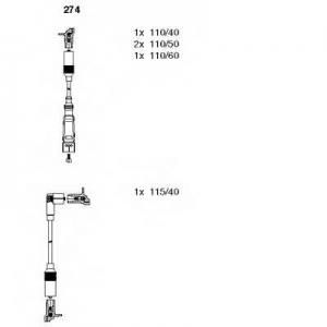 BREMI 274 Комплект проводів AUDI 80 >>\96
